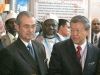 Malaysian Prime Minister, Shaykh Hassan Cisse, and the Minister of Health